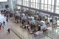 Asiatet Kina, farstun av stationen för säkerhet för den Shanghai Hongqiao den centrala järnvägsstationflygplatsen och bildläsning arkivbilder