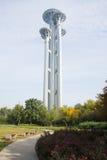 Asiatet Kina, Peking som är olympisk parkerar, watchtoweren Royaltyfri Foto