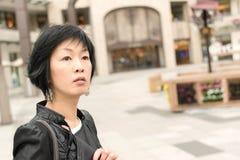 Asiatet mognar kvinnan Royaltyfria Foton
