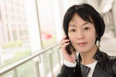 Asiatet mognar kvinnan Royaltyfri Bild