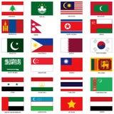 Asiatflaggor 2 Royaltyfria Bilder