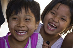 Asiatic Children smiling Stock Images