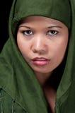 asiatic muslimkvinna royaltyfri bild