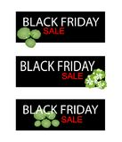 Asiatic Pennywort on Black Friday Sale Banner Stock Photos