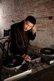 Asiatico bello DJ Fotografia Stock Libera da Diritti