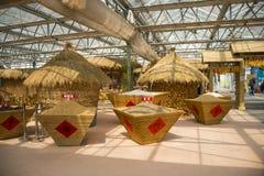 Asiatico carnevale di Cina, Pechino, agricoltura, disposizione del paesaggio, granaio Fotografie Stock