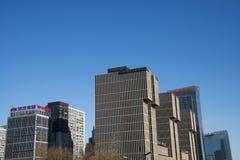 Asiatico Cina, Pechino, CBD di costruzione moderno, Wanda Plaza Immagini Stock