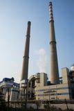 Asiatico Cina, Pechino, centrale elettrica termica, attrezzatura, costruzioni, torri di raffreddamento, camini Immagine Stock Libera da Diritti