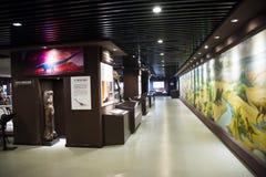 Asiatico Cina, Pechino, museo del centro espositivo antico di ŒIndoor del ¼ del animalï, fossile Immagine Stock