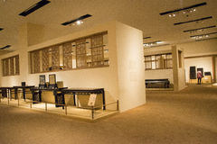Asiatico Cina, Pechino, museo nazionale, il centro espositivo, mobilia di legno antica Fotografia Stock Libera da Diritti