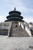 Asiatico Cina, Pechino, parco di Tiantan, il corridoio della preghiera per i buoni raccolti Immagine Stock Libera da Diritti