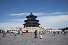 Asiatico Cina, Pechino, parco di Tiantan, il corridoio della preghiera per i buoni raccolti Fotografia Stock Libera da Diritti