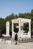 Asiatico Cina, Pechino, ponte di Lugou, posti di interesse storico e bellezza paesaggistica Fotografie Stock Libere da Diritti