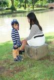 Asiatico della famiglia Fotografia Stock Libera da Diritti