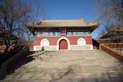 Asiatico parco di Cina, Pechino Beihai, tempio di chanfu Fotografie Stock