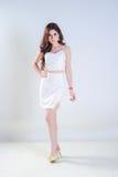 Asiatinmake-up mit Kleid Lizenzfreies Stockbild