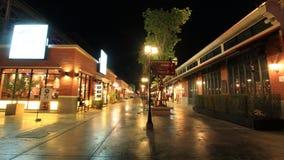 Asiatique河边区在晚上 免版税库存图片