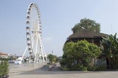 Asiatique河边区在曼谷市 免版税图库摄影
