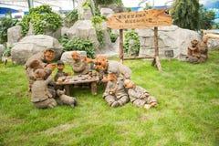 Asiatique Chine, Pékin, ¼ ŒClay, échecs de Carnivalï d'agriculture de jeu Image stock