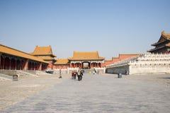 Asiatique Chine, Pékin, bâtiments historiques, le palais impérial Photo libre de droits