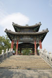 Asiatique Chine, Pékin, le palais d'été, XI Di, pont, pavillon Photos libres de droits