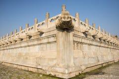 Asiatique Chine, Pékin, le palais impérial, découpage en pierre, bibcock, clôturant Images libres de droits