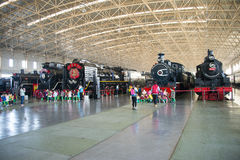 Asiatique Chine, Pékin, musée ferroviaire, hall d'exposition, train Images libres de droits