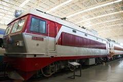 Asiatique Chine, Pékin, musée ferroviaire, hall d'exposition, train Images stock