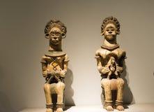 Asiatique Chine, Pékin, Musée National, le hall d'exposition, Afrique, découpage du bois Image libre de droits