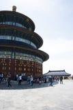 Asiatique Chine, Pékin, parc de Tiantan, le hall de la prière pour de bonnes récoltes Images libres de droits