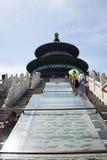 Asiatique Chine, Pékin, parc de Tiantan, le hall de la prière pour de bonnes récoltes Image stock