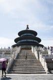 Asiatique Chine, Pékin, parc de Tiantan, le hall de la prière pour de bonnes récoltes Photo libre de droits
