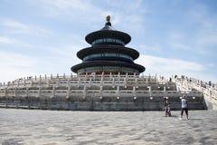 Asiatique Chine, Pékin, parc de Tiantan, le hall de la prière pour de bonnes récoltes Photographie stock libre de droits