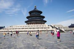 Asiatique Chine, Pékin, parc de Tiantan, le hall de la prière pour de bonnes récoltes Photos stock