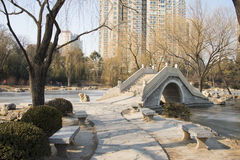 Asiatique Chine, Pékin, parc de Zizhuyuan Images stock