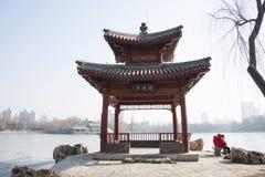 Asiatique Chine, Pékin, parc de Zizhuyuan Image libre de droits
