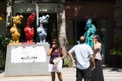 Asiatique Chine, Pékin, secteur de 798 arts,  Dashanzi Art District de ¼ de DADï images stock