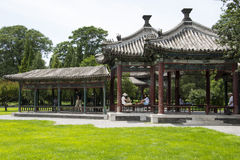 Asiatique Chine, Pékin, Tiantan, pavillon bicyclique de Wanshou Image libre de droits