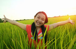Asiatique de liberté, enfants, enfants Images libres de droits
