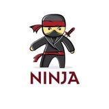 Asiatique de ninja de bande dessinée Image libre de droits