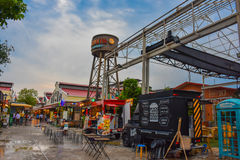 Asiatique Riverfront in Bangkok Stock Afbeelding
