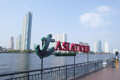 Asiatique The Riverfront in Bangkok city Royalty Free Stock Images