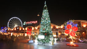 Asiatique The Riverfront with Chrismas tree at night Stock Photos