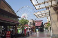 Asiatique Riverfront in de stad van Bangkok royalty-vrije stock foto's