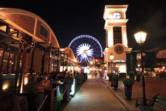 Asiatique The Riverfront at night royalty free stock image