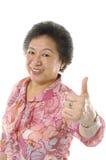Asiatische ältere Frauen Stockbild