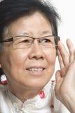 Asiatische alte Dame Lizenzfreie Stockfotos