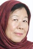Asiatische alte Dame Lizenzfreie Stockbilder