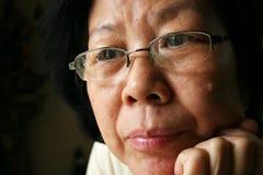 Asiatische alte Dame Lizenzfreies Stockbild