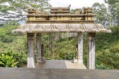 Asiatische angespornte Architektur Stockfotografie